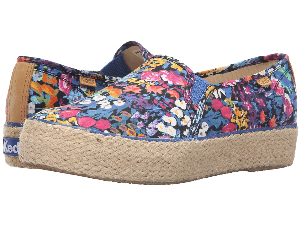 Keds - Triple Decker Liberty (Blue Multi) Women's Slip on Shoes