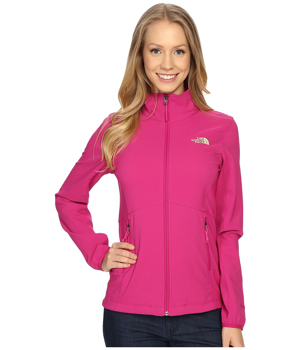 The North Face - Nimble Jacket (Fuchsia Pink/Fuchsia Pink/Budding Green) Women's Coat