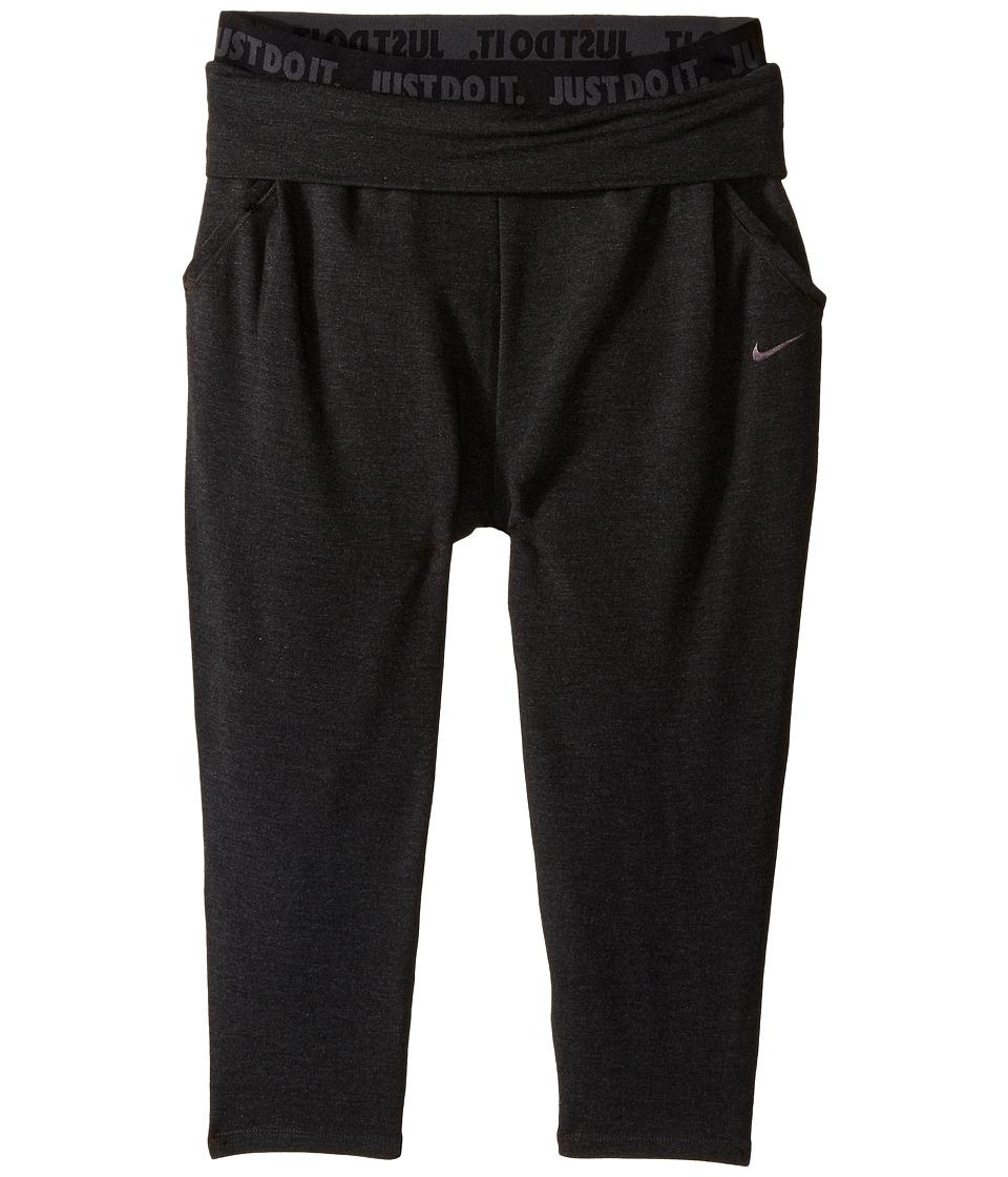 Nike Kids - Obsessed Training Capri (Little Kids/Big Kids) (Black/Black/Anthracite) Girl's Capri
