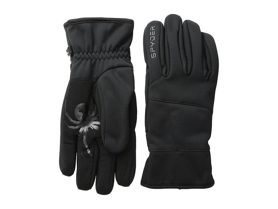Spyder - Facer Conduct Ski Glove (Black) Ski Gloves