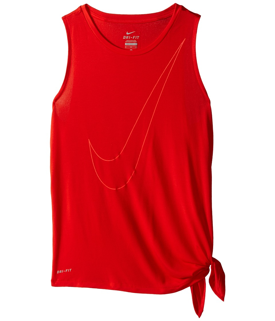 Nike Kids - Side Tie Top (Little Kids/Big Kids) (Light Crimson/Light Crimson/Bright Crimson) Girl's Clothing