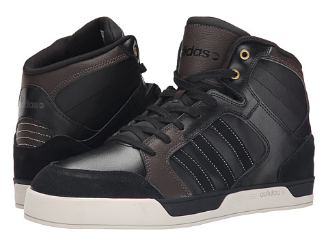 adidas - Raleigh Mid Luxe (Black/Black/Brown) Men's Shoes