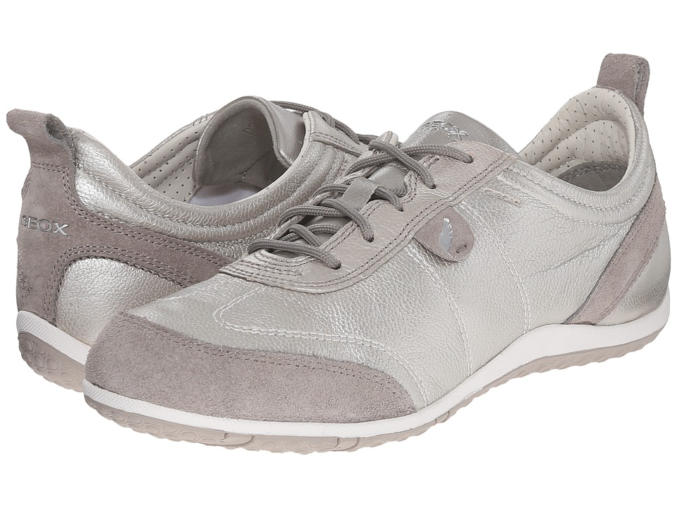 Geox - WVega8 (Off White/Light Grey) Women's Shoes