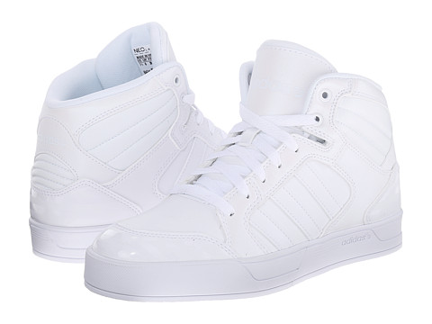 adidas - BBNEO Raleigh Mid (White/White/White) Women's Shoes