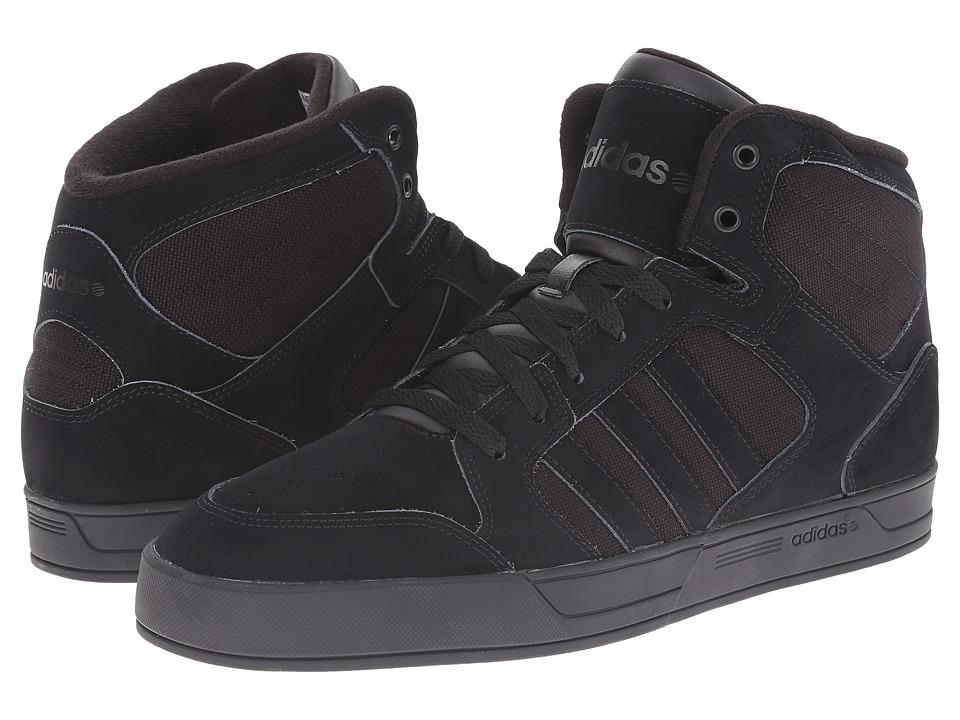 adidas - BBNEO Raleigh Mid (Black/Black/Black) Men