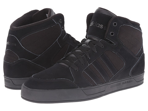 adidas - BBNEO Raleigh Mid (Black/Black/Black) Men