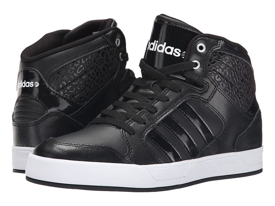 adidas - BBNEO Raleigh Mid (Black/Black/White) Women