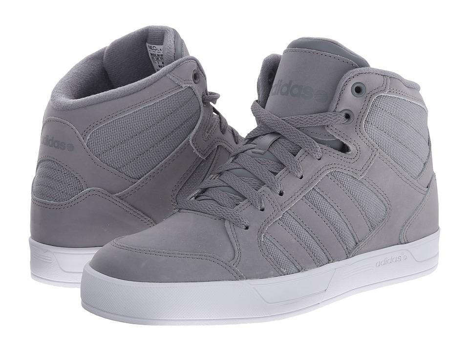 adidas - BBNEO Raleigh Mid (Grey/Grey/White) Men