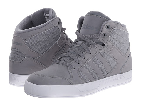 adidas - BBNEO Raleigh Mid (Grey/Grey/White) Men's Shoes