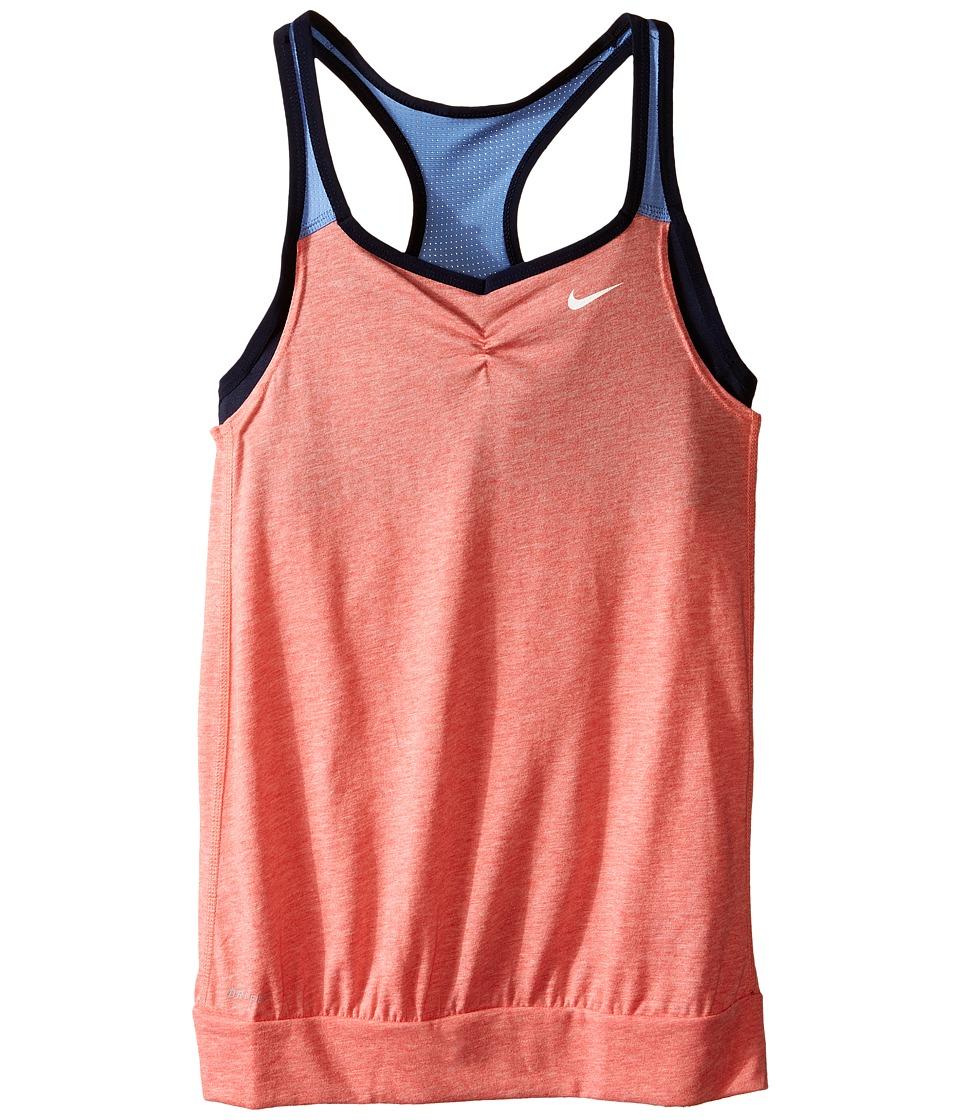 Nike Kids - Dri-FIT Cool 2-1 Cami (Little Kids/Big Kids) (Light Crimson/Chalk Blue/Obsidian/White) Girl's Clothing