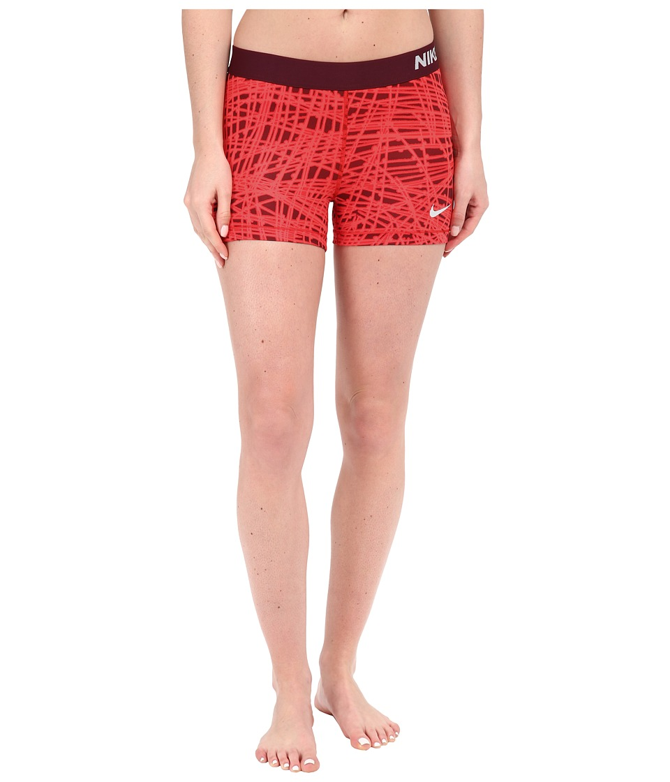 Nike - Pro 3 Cool Tracer Compression Training Short (University Red/Night Maroon/White) Women's Shorts