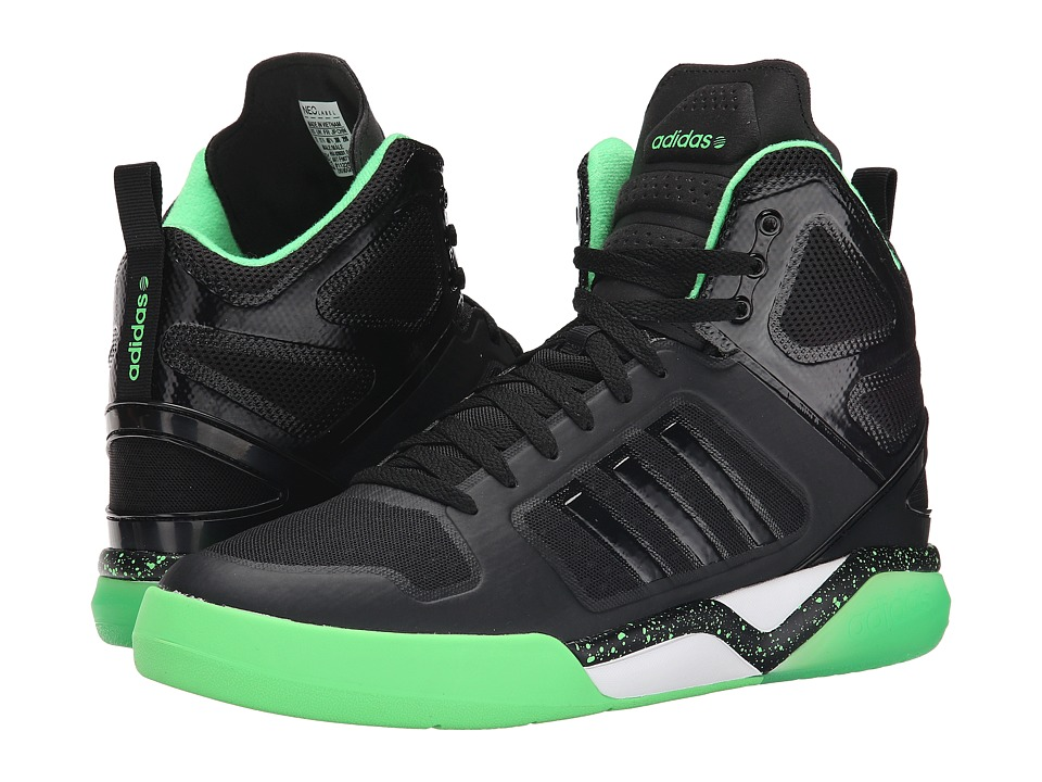 adidas - BB95 Mid TM (Black/Black/Flash/Green) Men's Shoes