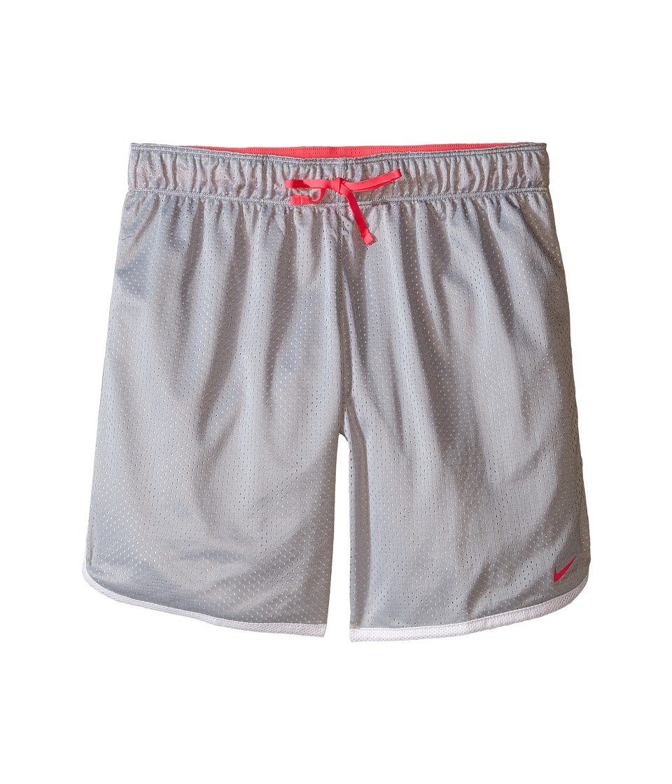 Nike Kids - Mesh Training Short (Little Kids/Big Kids) (Wolf Grey/White/Hyper Pink/Hyper Pink) Girl's Shorts