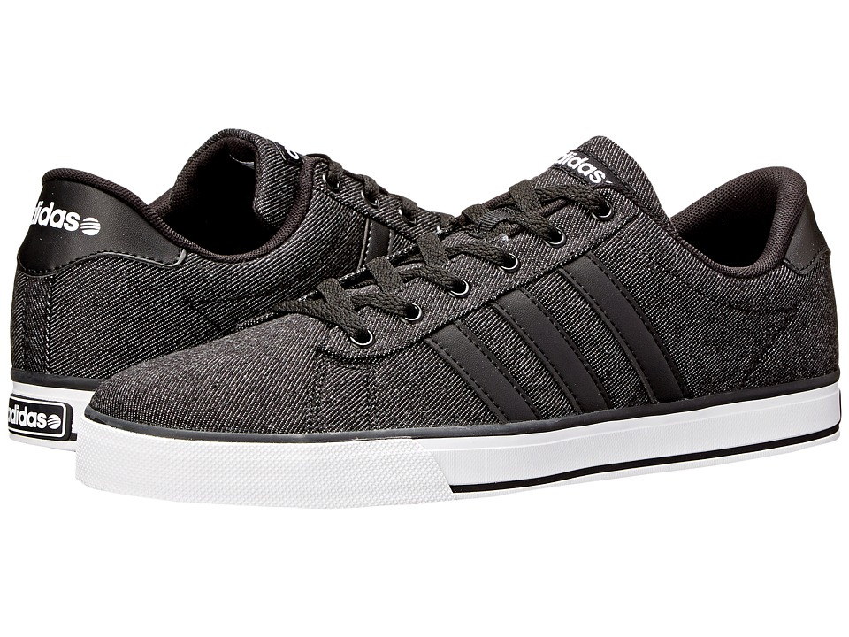 adidas - SE Daily Vulc (Black/Black/White) Shoes