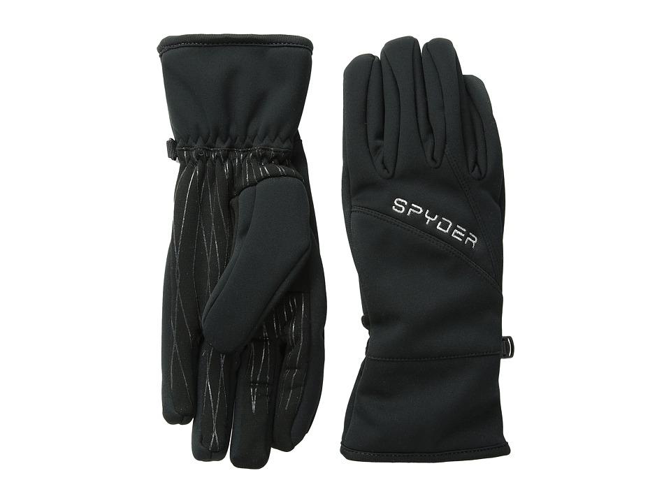 Spyder - Facer Conduct Ski Glove (Black/Silver) Ski Gloves