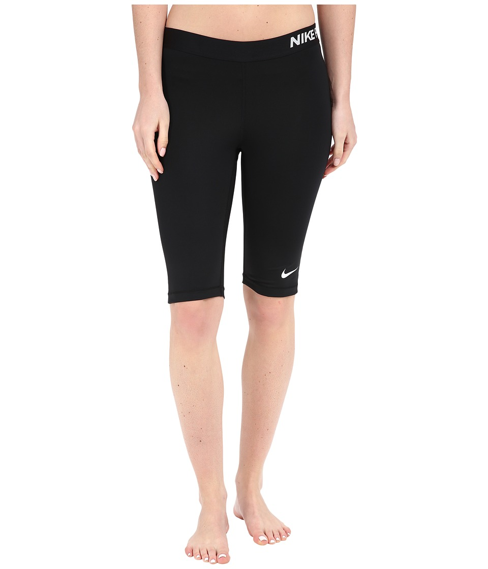 Nike - Pro Cool 11 Shorts (Black/White) Women's Workout