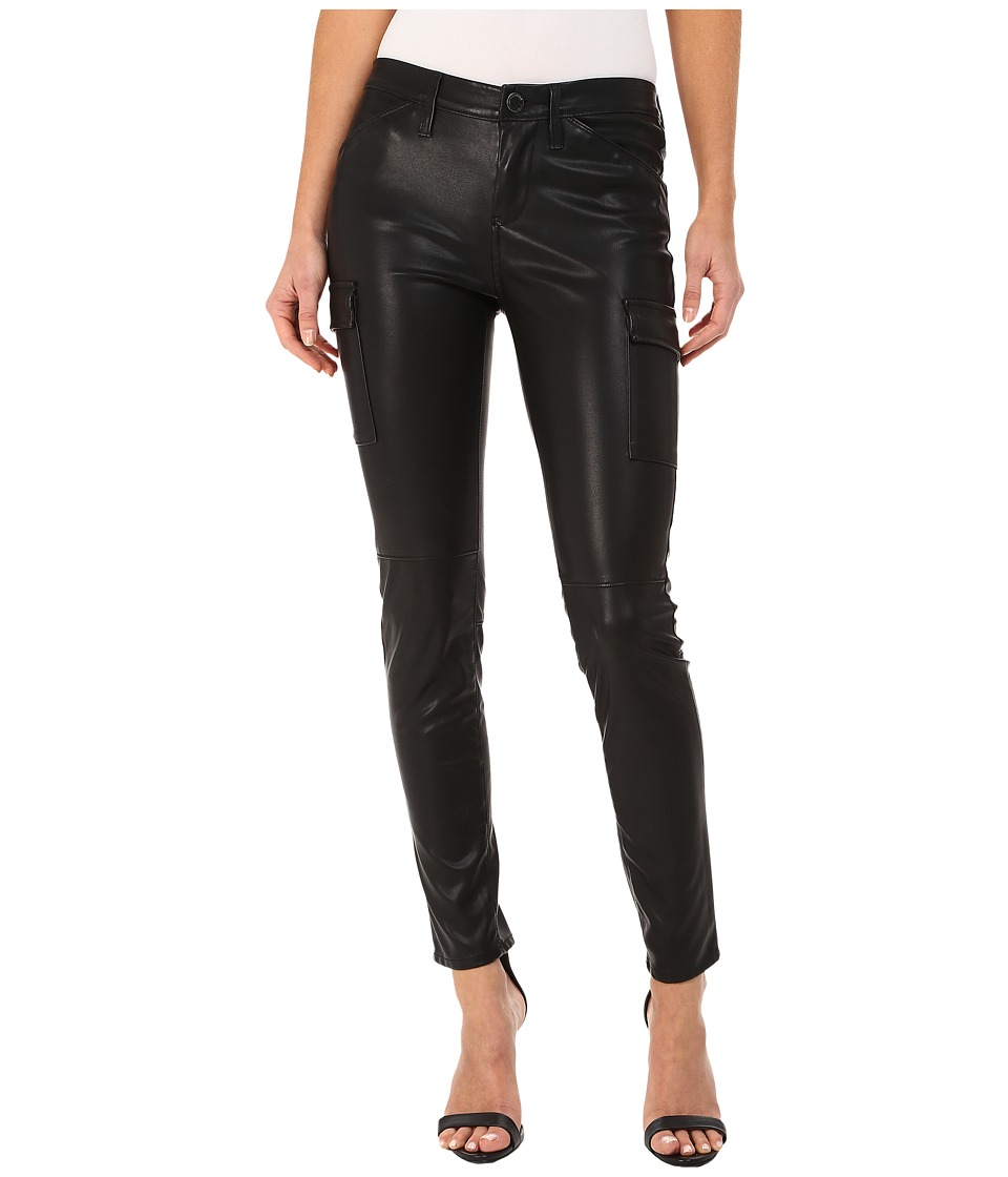 Blank NYC - Black Vegan Leather Cargo in Hiberdating (Hiberdating) Women's Casual Pants