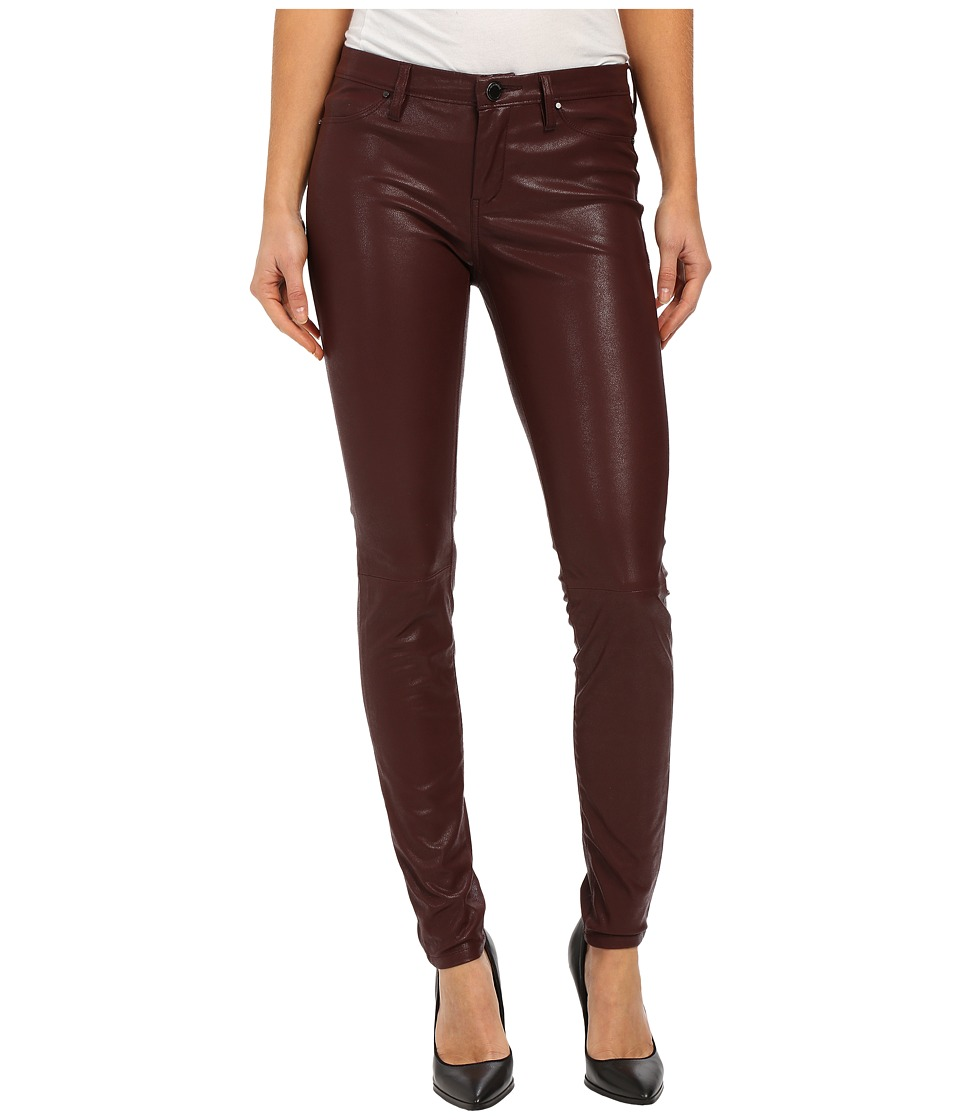Blank NYC - Burgundy Five-Pocket Vegan Leather Pants in Going Downtown (Going Downtown) Women
