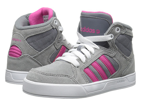 adidas Kids - Raleigh Mid (Little Kid/Big Kid) (Grey/Pink/White) Girl