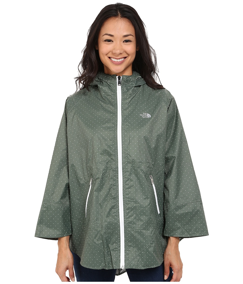 The North Face - Mindfully Designed Poncho (Laurel Wreath Green Classic Dot) Women's Coat