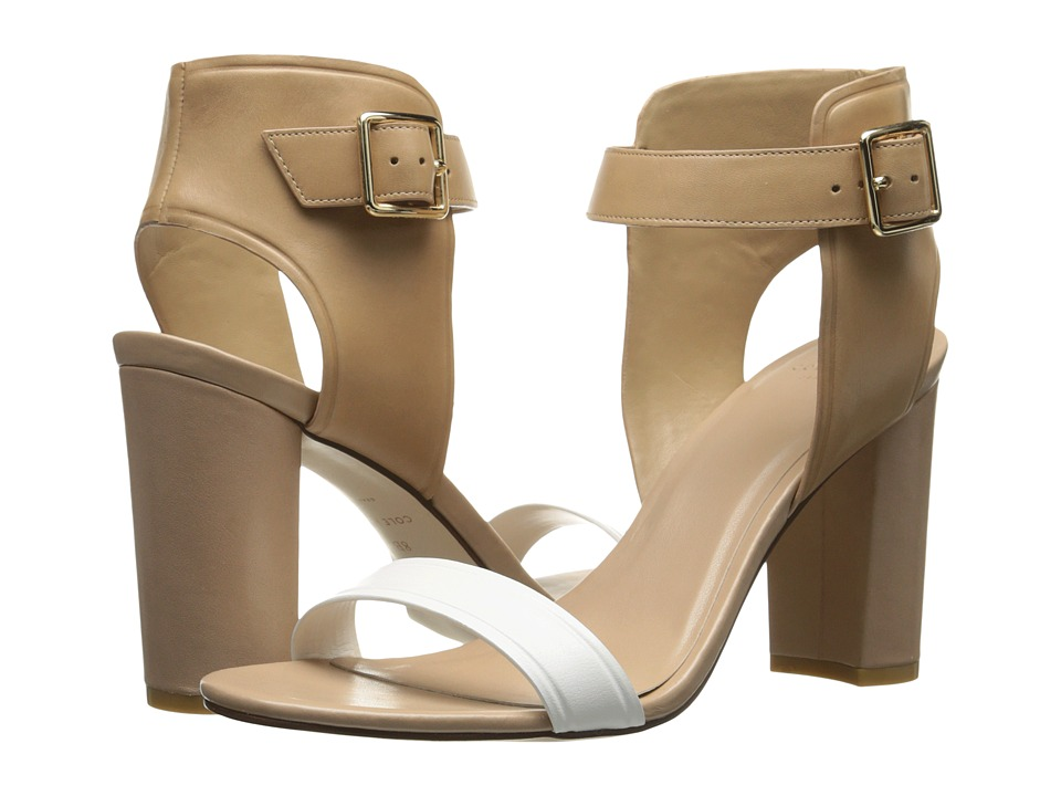 Cole Haan - Barra High Sandal (Optic White/Sand/Maple Sugar) High Heels