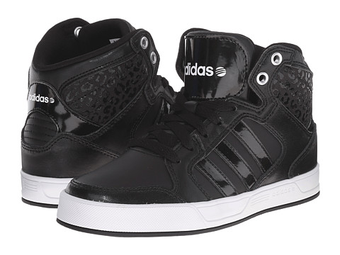 adidas Kids - Raleigh Mid (Little Kid/Big Kid) (Black/Black/White) Kid