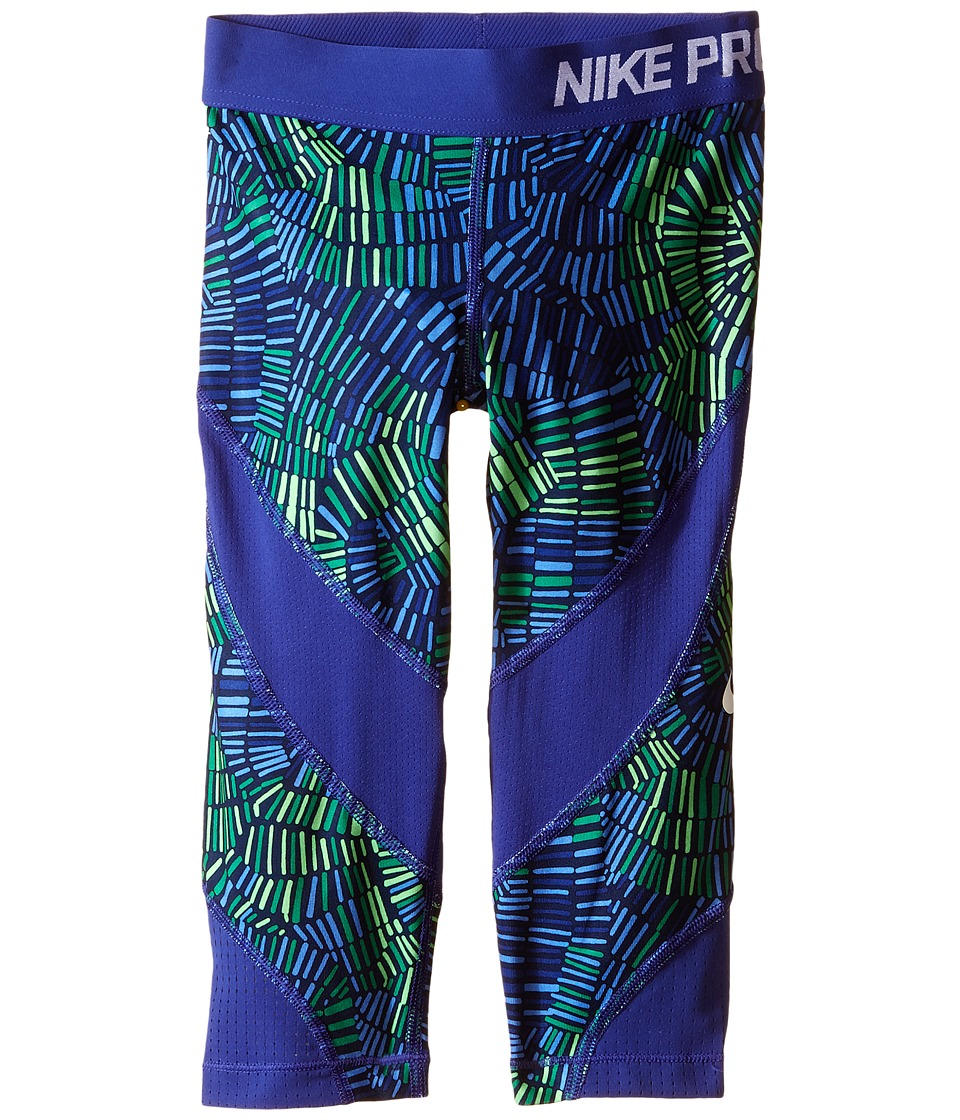 Nike Kids - Pro Hypercool Training Capri (Little Kids/Big Kids) (Obsidian/Deep Night/Deep Night/White) Girl's Capri