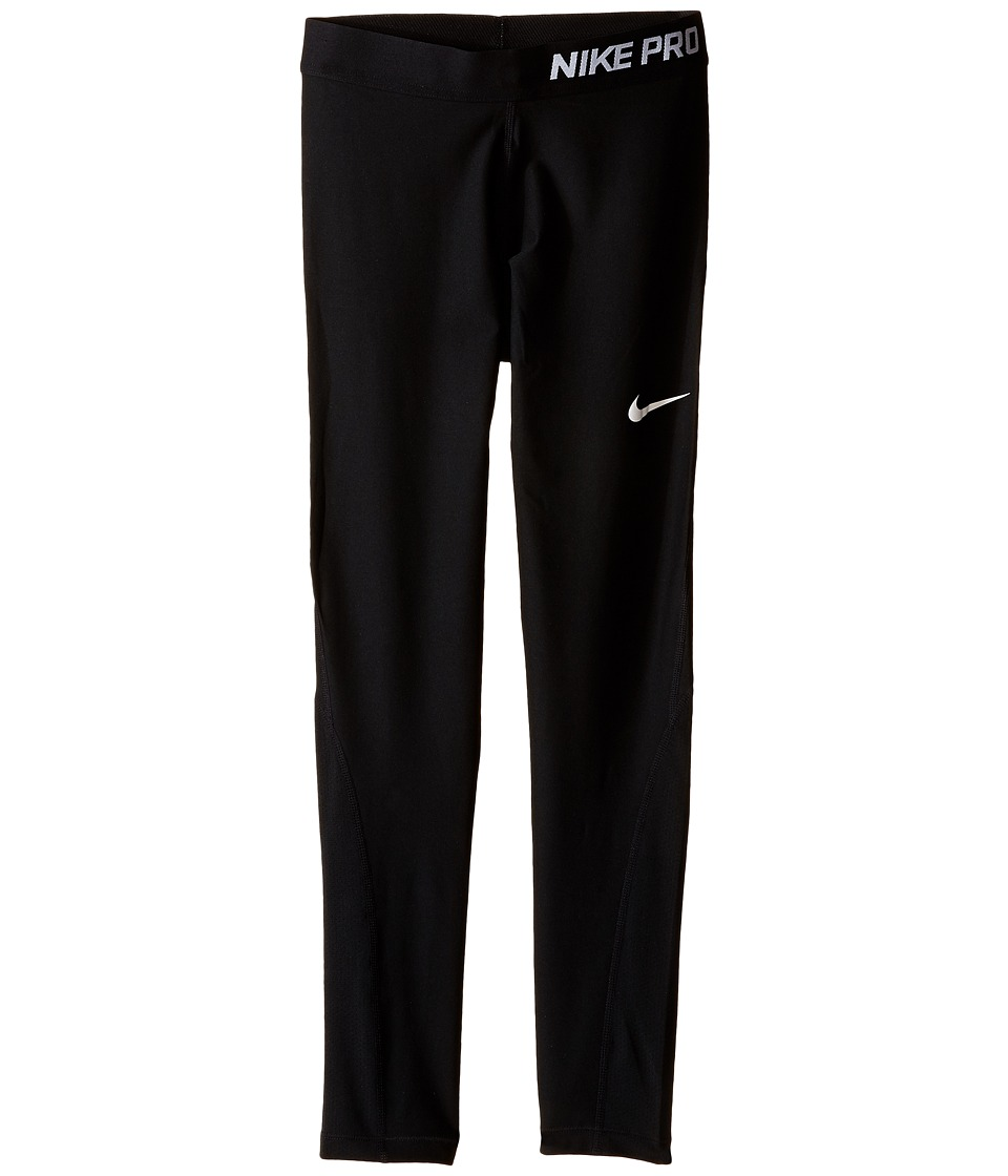 Nike Kids - Pro Hypercool Tights (Little Kids/Big Kids) (Black/Black/White) Girl's Casual Pants