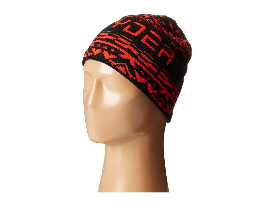 Spyder - Throwback Hat (Black/Volcano) Beanies