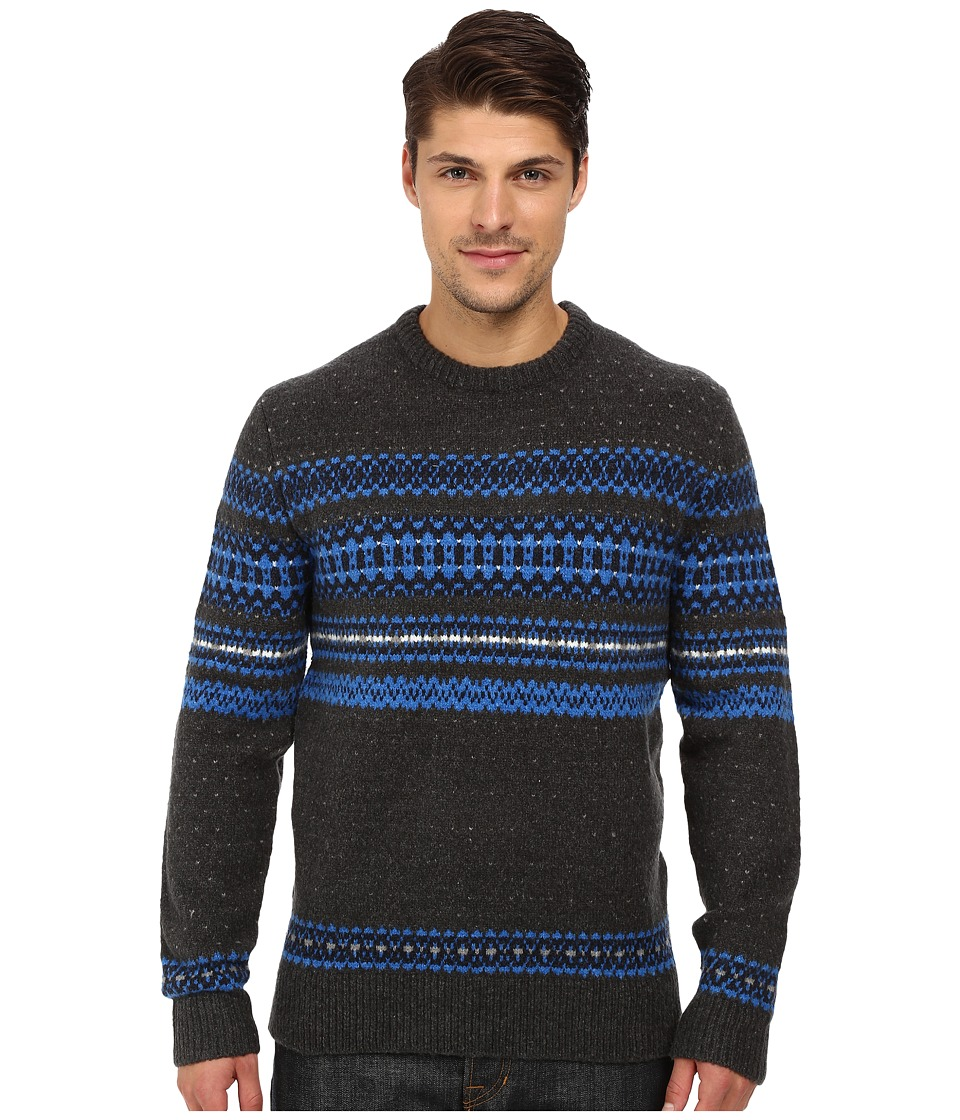 French Connection - Feltet Fairisle Knits Sweater (Daphne/Charcoal Melange) Men's Sweater