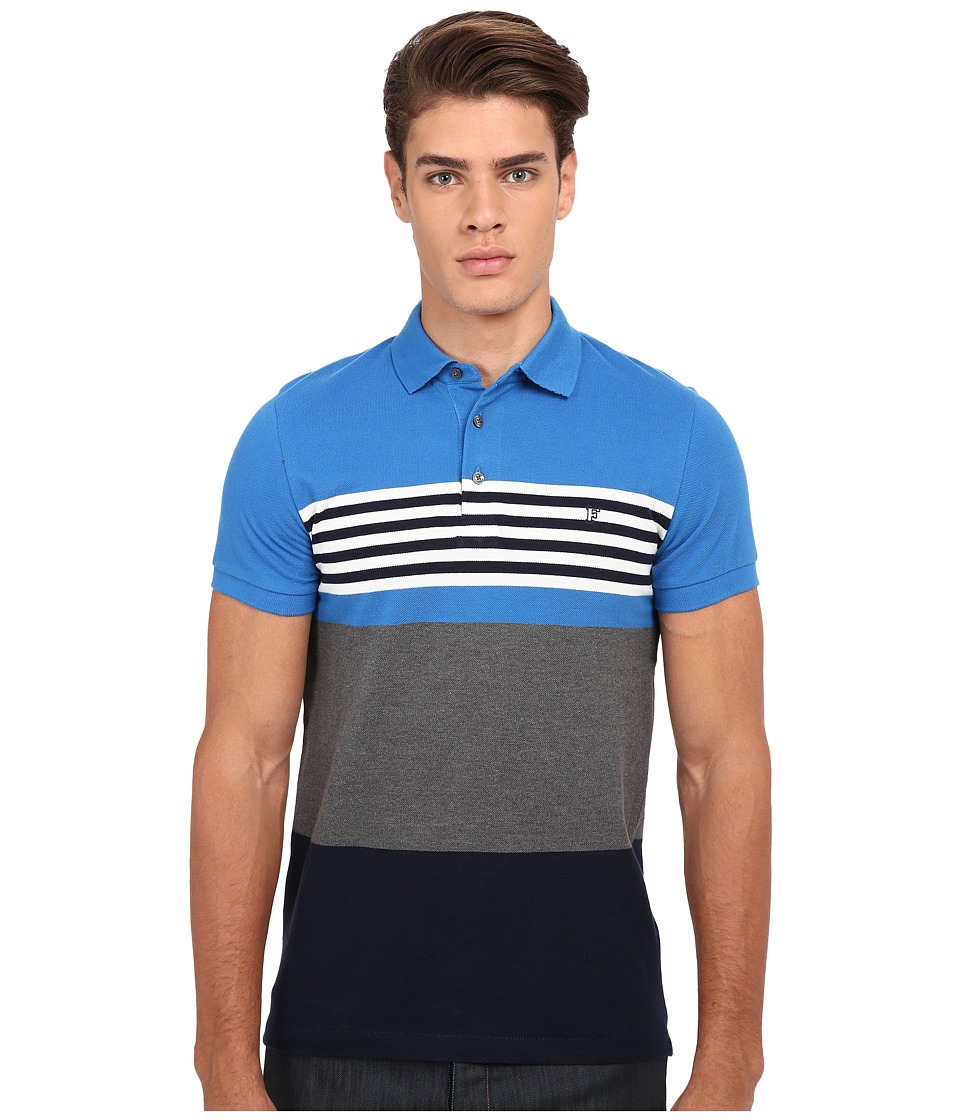 French Connection - Amerbix Bold Polo (Daphne/Marine Blue) Men's Short Sleeve Knit