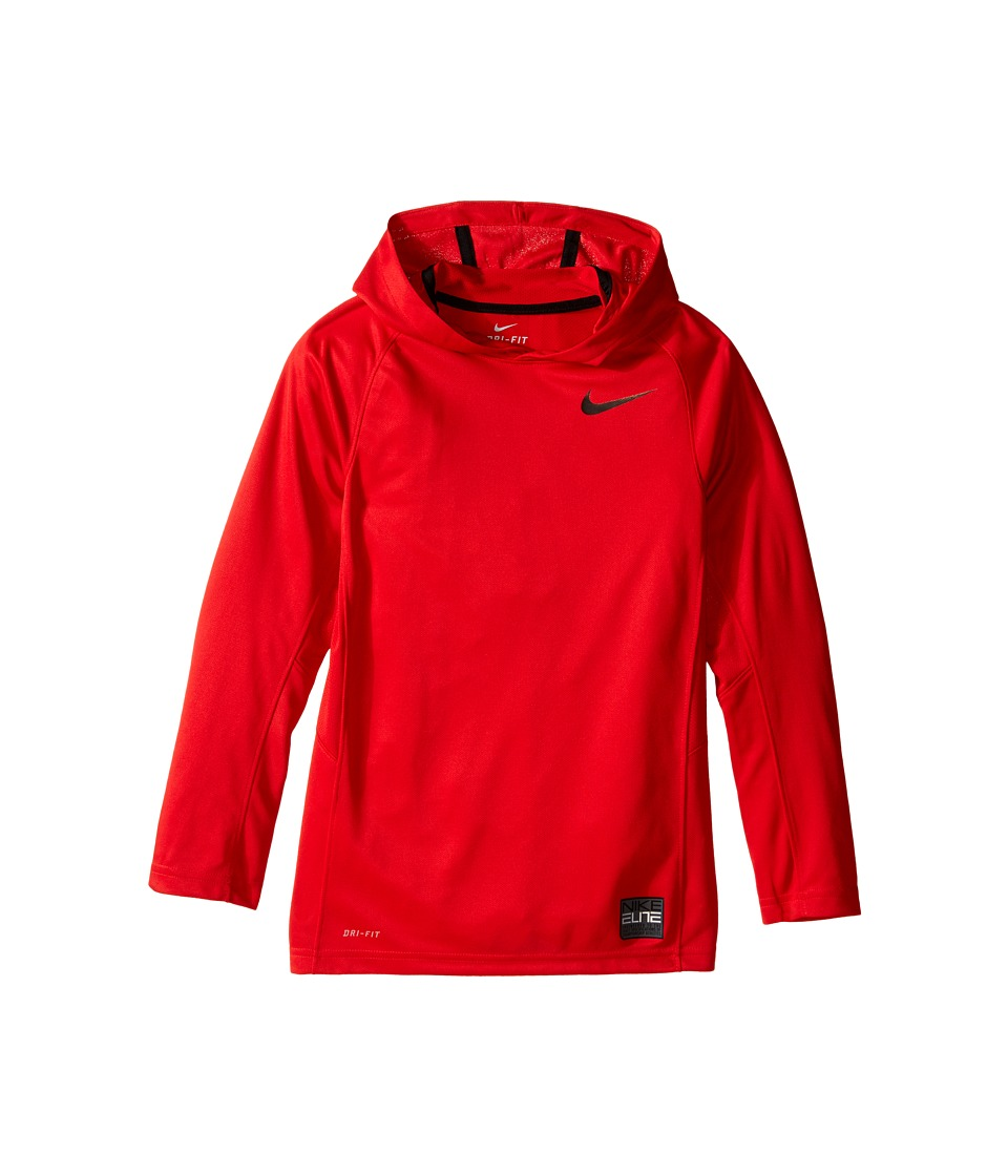 Nike Kids - Elite Hooded Shooter (Little Kids/Big Kids) (University Red/University Red/Black/Black) Boy's Sweatshirt
