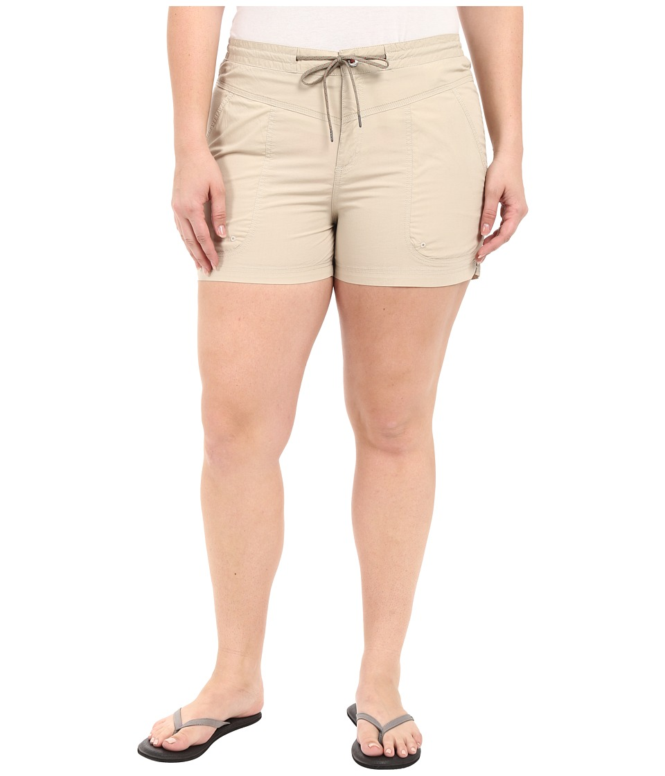 Columbia - Plus Size Down the Path Shorts (Fossil) Women's Shorts