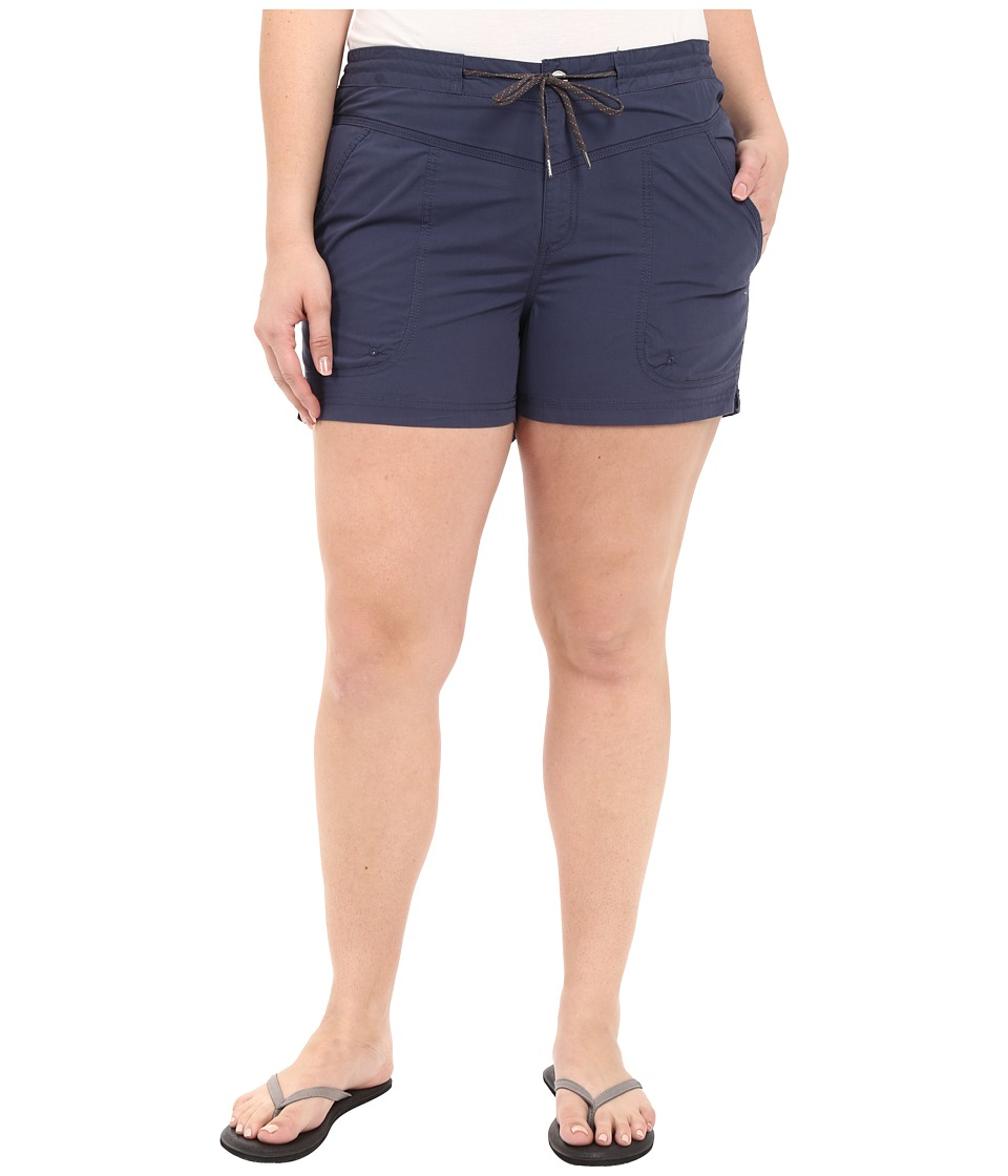 Columbia Plus Size Down the Path Shorts (Nocturnal) Women