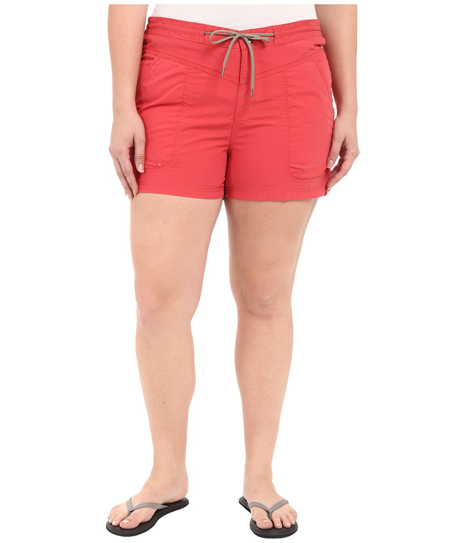 Columbia - Plus Size Down the Path Shorts (Sunset Red) Women's Shorts