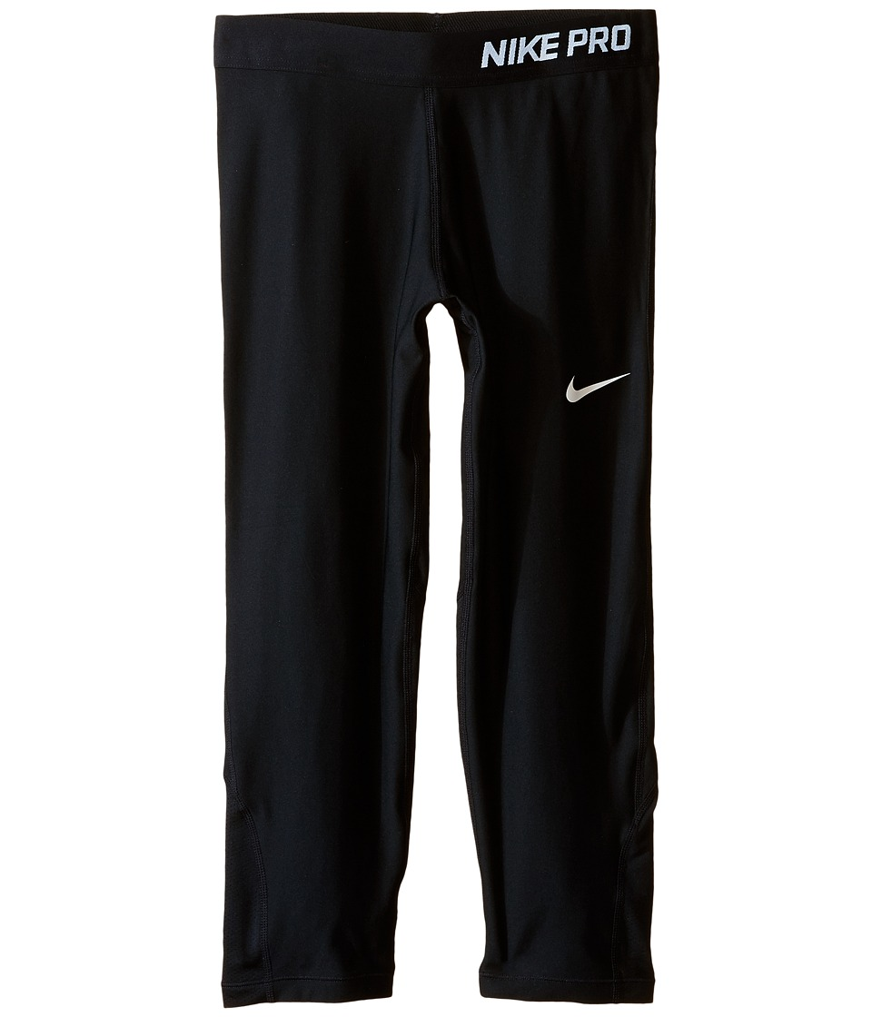 Nike Kids - Pro Cool Training Capri (Little Kids/Big Kids) (Black/Black/White) Girl's Capri