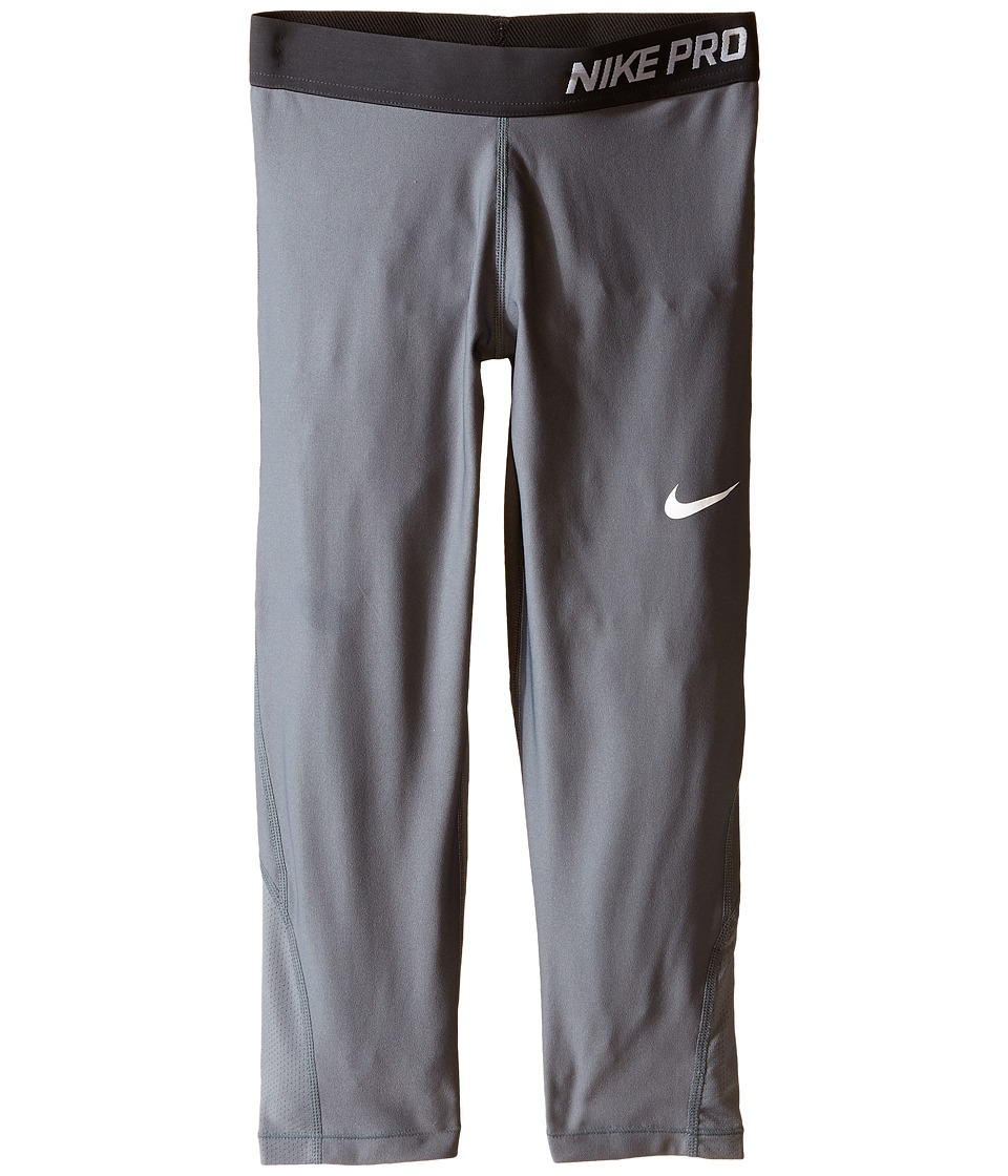 Nike Kids - Pro Cool Training Capri (Little Kids/Big Kids) (Cool Grey/Anthracite/White) Girl's Capri