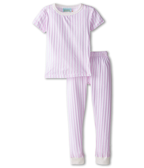 BedHead Kids - Short Sleeve Snug PJ (Toddler/Little Kids) (Pink Stripe) Girl