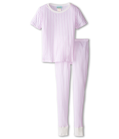 BedHead Kids - Short Sleeve Tween Snug PJ (Big Kids) (Pink Stripe) Girl