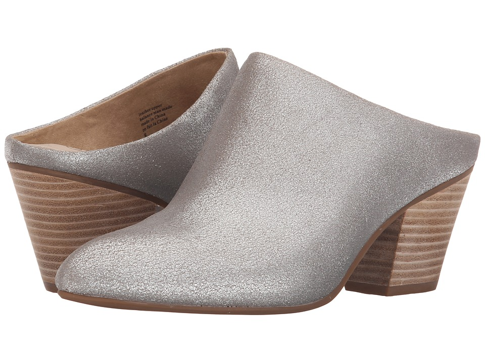Seychelles - Got the Answer (Silver Metallic Suede) Women's Clog Shoes