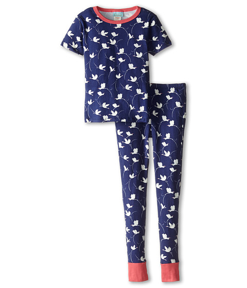 BedHead Kids - Short Sleeve Tween Snug PJ (Big Kids) (Midnight Cranes) Girl