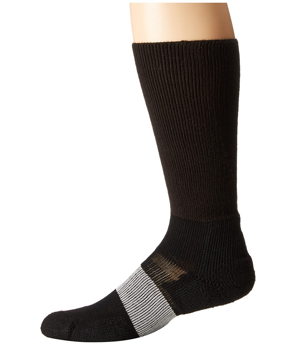 Thorlos - Cleated Sports Over Calf Single Pair (Varsity Black) Crew Cut Socks Shoes