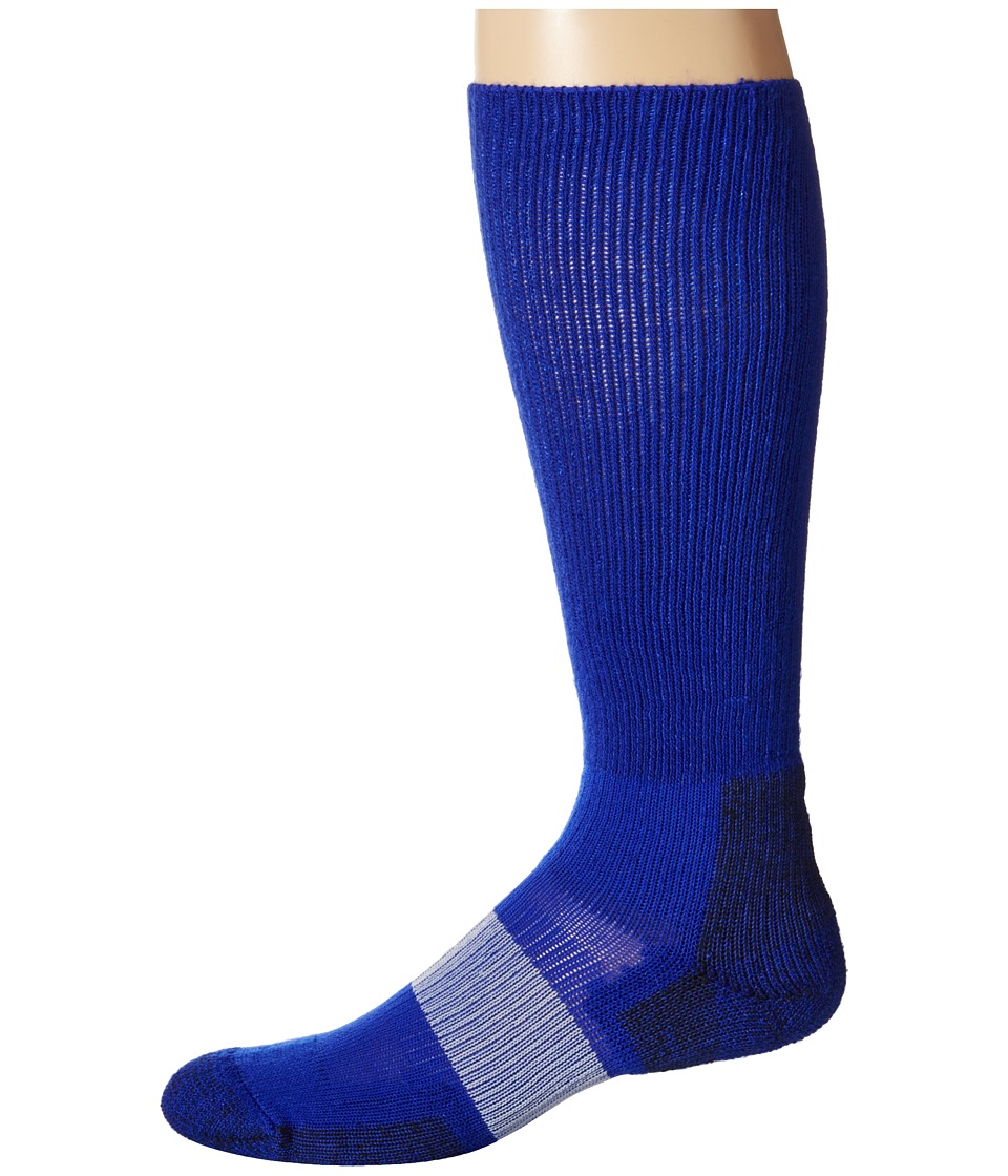 Thorlos - Cleated Sports Over Calf Single Pair (Varsity Royal) Crew Cut Socks Shoes