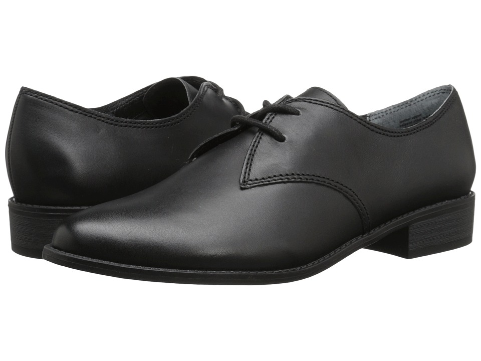 Seychelles - With Honor (Black Leather) Women's Slip on Shoes