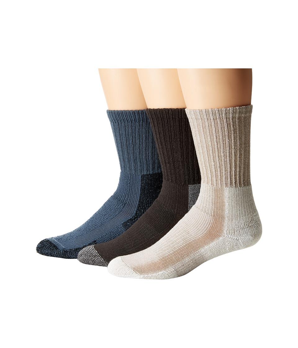 Thorlos - Hiking 3-Pack (Assorted) Women's Crew Cut Socks Shoes