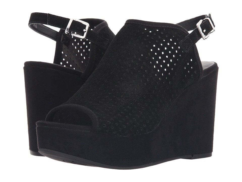 Seychelles - Landscape (Black Suede) Women's Wedge Shoes
