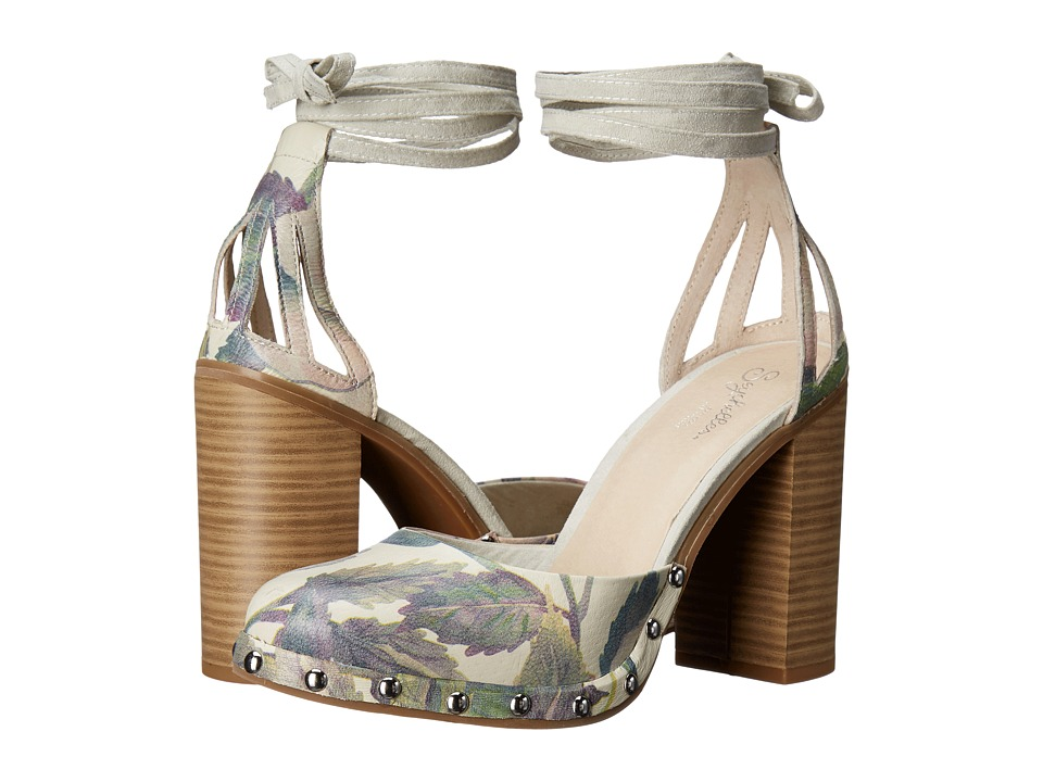 Seychelles - Drift (Light Floral Leather) High Heels
