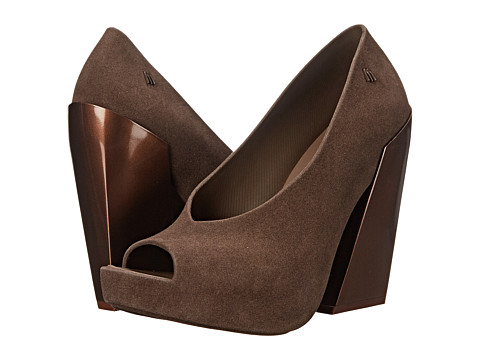 Melissa Shoes - Boho (Brown Flocked) Women's Shoes