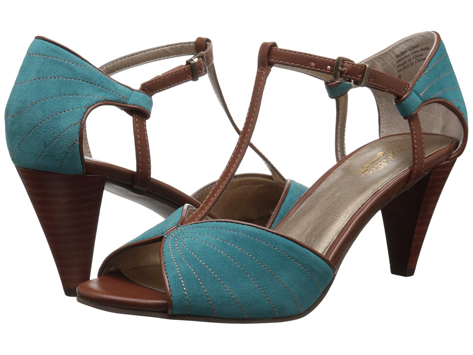 Seychelles - U-Turn (Teal/Cognac) High Heels