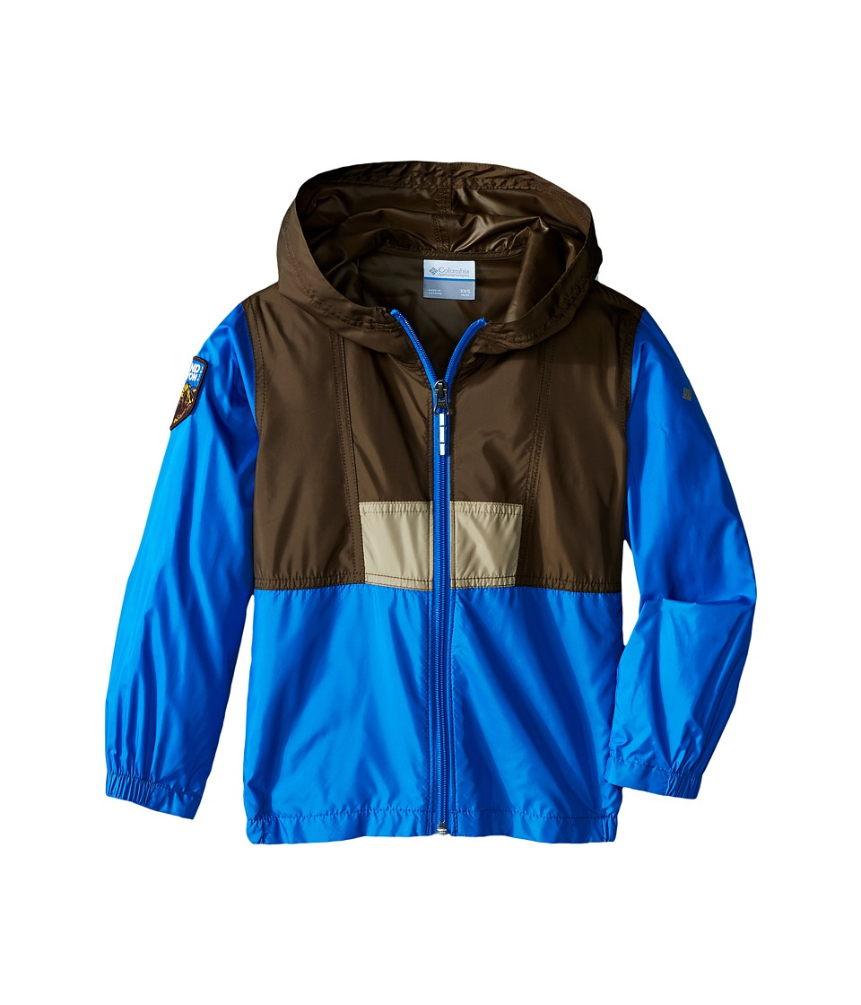 Columbia Kids - Flashback Windbreaker National Park (Little Kids/Big Kids) (Grand Canyon/Camo Brown/Pacific Blue) Boy's Clothing